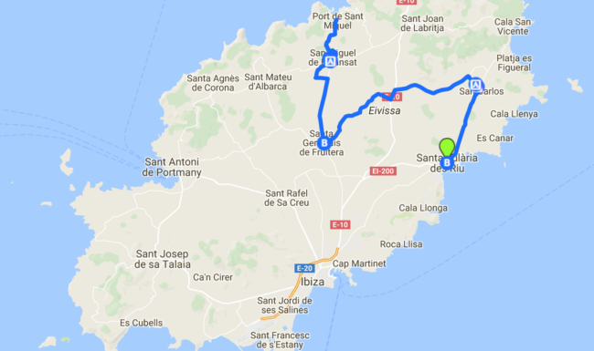 Ruta de pueblos con encanto, Ibiza